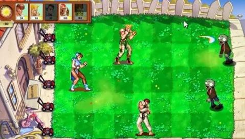 E se as personagens do Street Fighter entrassem em Plants VS Zombies (video)